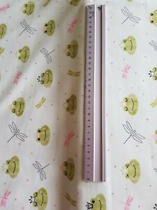 FROGS/ DRAGONFLY  CROWN 100% COTTON FABRIC FROG PRINCE / PRINCESS GREEN CRAFT