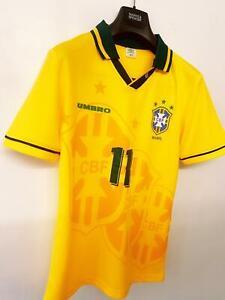 1994/97 ROMARIO #11 BRAZIL UMBRO WORLD CUP 94 HOME FOOTBALL SHIRT JERSEY