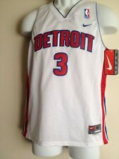 Authentic Detroit #3 Wallace Nike NBA Jersey Youth  M Lenght +2  NWT