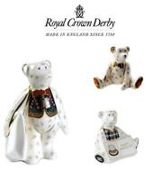 Royal Crown Derby - Teddy Bear Porcelain Collection, New & Boxed Figurines