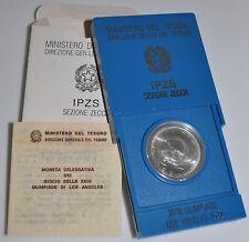 1984 Italie 500 L Pièce Argent-La Jeux Olympiques