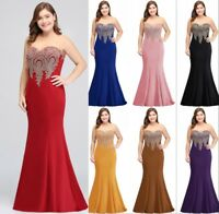 Evening Long Prom Dress Formal Party Ball Gown Bridesmaid Mermaid Mother Dresses