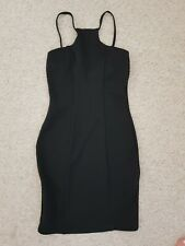 Asos Diva Black Dress Night Out Bodycon 8 mini