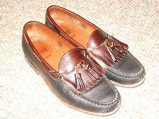 Leather Allen Edmonds Handsewn Loafers 10D Nashua tassel tassle m medium Usa