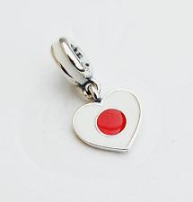"Genuine Pandora Charm Bead ""Japan Heart Flag"" 791553ENMX - retired"