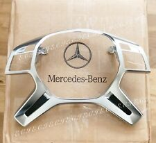 13~18 GENUINE MERCEDES STEERING WHEEL PERFORMANCE SLIVER TRIM G63 GL63 ML63 G65