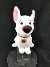 Disney Store Sitting Bolt Stuffed Animal Plush White Dog Red Collar 13 Inch