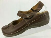 Spring Step Mary Jane Slingback Hope Brown Leather Casual Shoes Womens 39 US 8.5