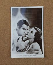 Robert Taylor & Hedy Lamarr P282 Film partners  Real Photograph Postcard xc2