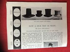 m2n ephemera 1880s article how a silk hat is made g macdonald