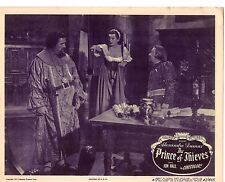 "JON HALL PATRICA MORISON  THE PRINCE OF THIEVES ORIGINAL 11x14"" LOBBY"
