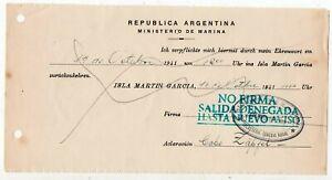 1941 ARGENTINA / GERMANY GRAF SPEE SUNKEN SHIP COVER, WAR PRISONER !!