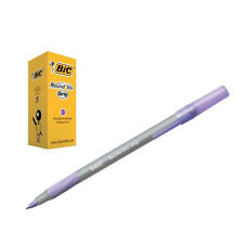 BIC ROUND STIC GRIP BALL POINT PENS // 40 PEN CLASS PACK // PURPLE INK // 920412