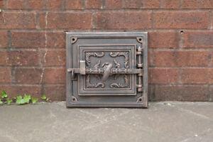 29.8 x 32.5 cm cast iron fire door clay / bread oven door / pizza stove doors