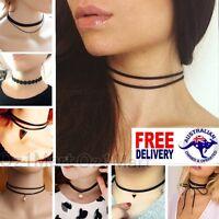 NEW Choker Necklace Vintage Retro Black Velvet Women Girls Chokers Necklaces