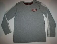 New Gymboree Boys Heather Gray Pullover Top 14 year Wild Cat Racing Flags Logo