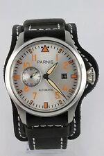 PARNIS Fliegeruhr 47mm,Automaik SeaGull ST 2551 Datum kleine Sekunde Neuware