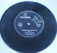 "PETER AND GORDON - 7""45 -""TO KNOW YOU IS TO LOVE YOU"" 1965 COLUMBIA AUSTRALIA"