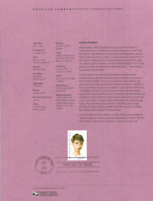 #0319 37c Audrey Hepburn Stamp #3785 Souvenir Page