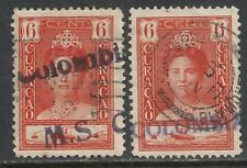 Curacao NVPH 89(2x) ShipCANC M.S.Colombia(2 Types)