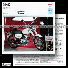 #013.03 minsk 125 mmvz 1991 fiche moto motorcycle card