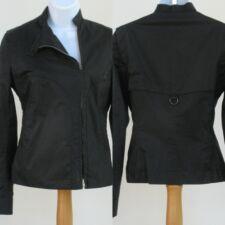 Costume National Black Cotton Sport 4 Season Jacket Asymmetrical Zipper New 4/38