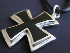 Eisernes Kreuz 925er Silber Ketten Anhänger EK Malteser  / KA 042