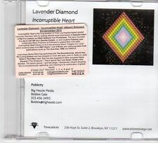 (DX339) Lavender Diamond, Incorruptible Heart - 2012 DJ CD