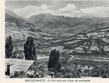 04 BARCELONETTE CIRQUE DE MONTAGNES IMAGE 1956 OLD PRINT