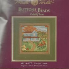 Harvest Home Mill Hill Cross Stitch Kit with Button & Beads