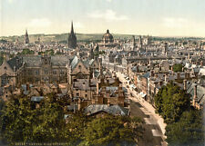 "PS25 Vintage 1890's Photochrom Photo - High Street Oxford - Print A3 17""x12"""