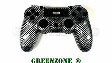 Black Carbon PS4 Replacement Hydro Dipped Custom Controller Shell Mod Kit