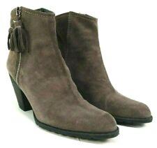 Stuart Weitzman Womens Ankle Boots Size 7.5 M Gray Suede Prancing Mist Velour