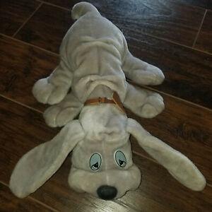 Lonely Puppies Plush Stuffed Grey Hound Dog Vintage