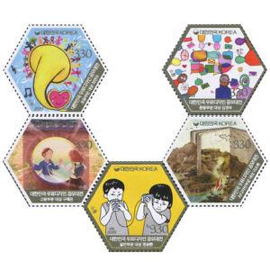 """Korea South 2019 """"Postage Stamp Design Contest"""" 5v Set"""