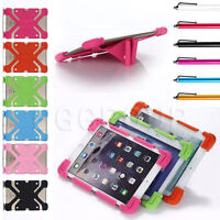 "For 7"" 8"" 9"" 10.1"" Inch Tablet Universal Kids Silicone Case Shockproof Cover PC"