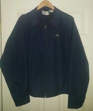 Vintage 1970s 1980s Izod Lacoste Cotton Blend Blue Jacket Zip Large Older Tag