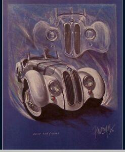 BMW 328 ROADSTER 1938 Mille Miglia Oldtimer Kunstdruck Original Ferreyra-Basso