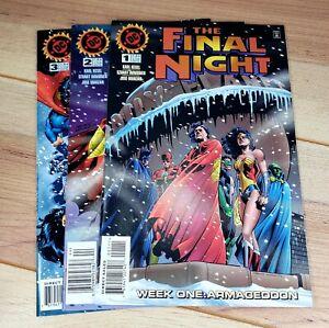 Comic Book The Final Night #1 ,2 , & 3 (Nov 1996, DC)