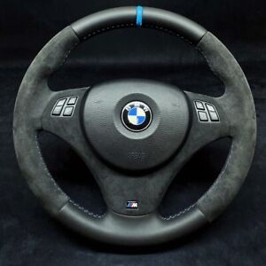 BMW E90 E82 E87 E93 E92 E81 Alcantara Leather M3 Steering Wheel M Custom Sport