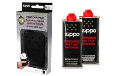 ZIPPO Handwärmer + 2 Pullen Benzin Taschenofen NEU+OVP schwarz Taschenwärmer