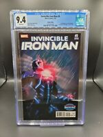Invincible Iron Man #9 CGC 9.4 Turcotte Variant NM 1st Riri Williams Appearance!