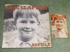 ERIC CLAPTON reptile 2001 EUROPEAN Tour Programme with Ticket Pouch!