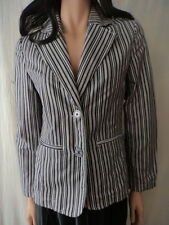 Cotton Blend Machine Washable Striped Coats & Jackets for Women