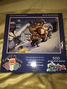 Ceaco Up On The Rooftop Puzzle 500 Pieces New Scott Gustafson Christmas Puzzle