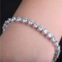 10Ct Brilliant Round Cut Diamond Tennis Bracelet 14k White Gold Finish