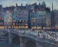 Maximilien Luce The Quay Conti Fine Art CANVAS Print Painting Giclee Small 8x10
