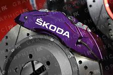 x6 Skoda Logo Premium Vinyl Brake Caliper Decals - Stickers