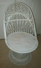 Russell Wooddard Spun Fiberglass Swivel  Chair Natural White Color
