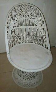 Russell Wooddard Spun Fiberglass Swivel  Chair Natural White Color